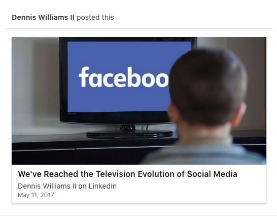 Dennis Williams LinkedIn Article
